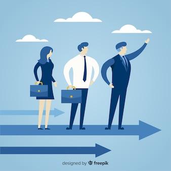플랫 스타일의 리더십 디자인