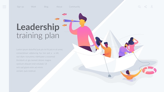 Leadership training plan landing page template