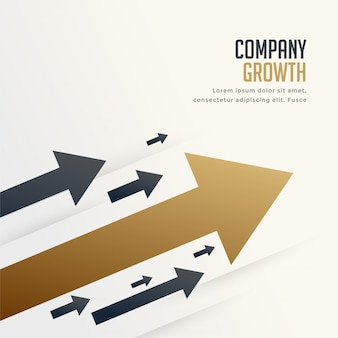 Leading arrow for company brand growth concept background