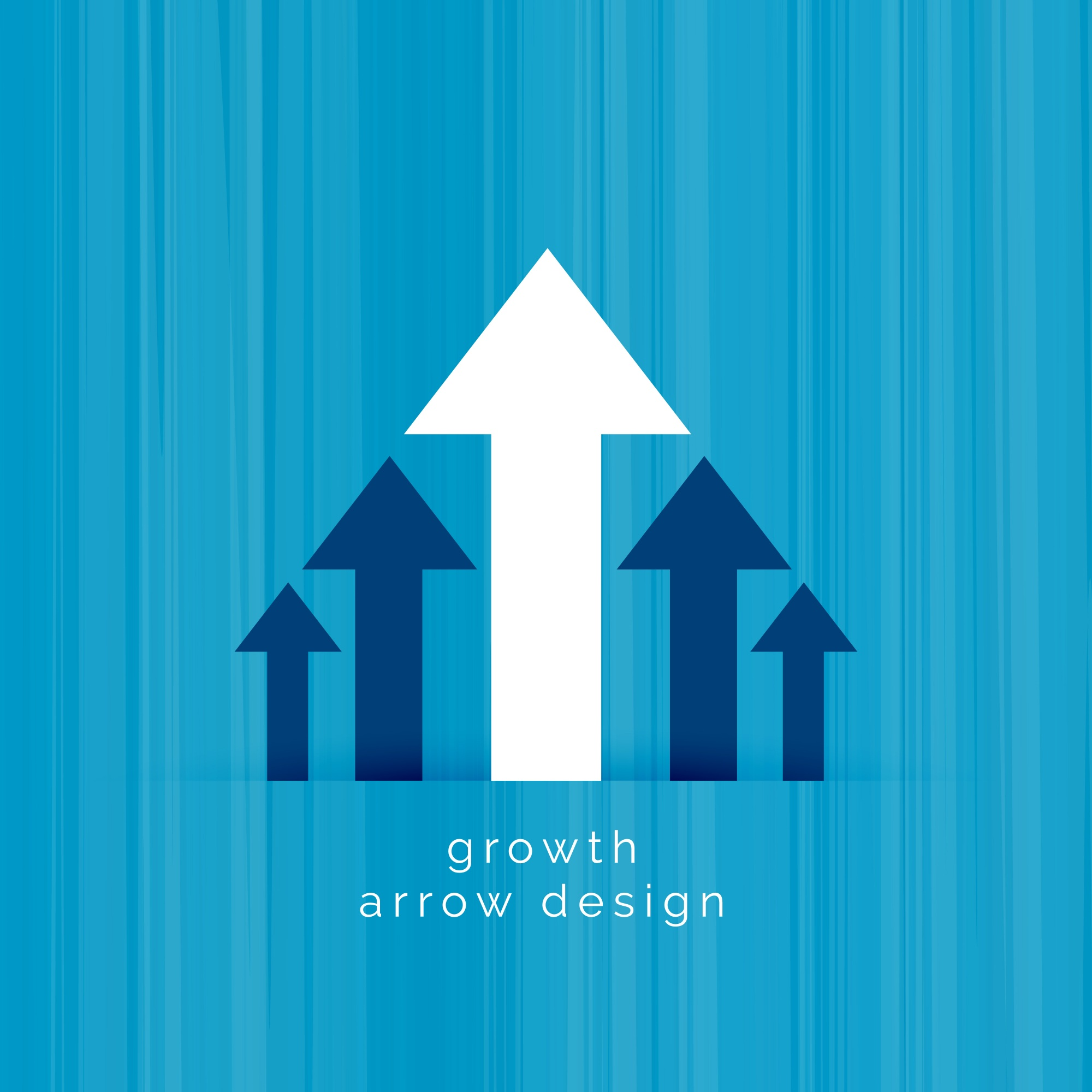Leading white arrow business growth template
