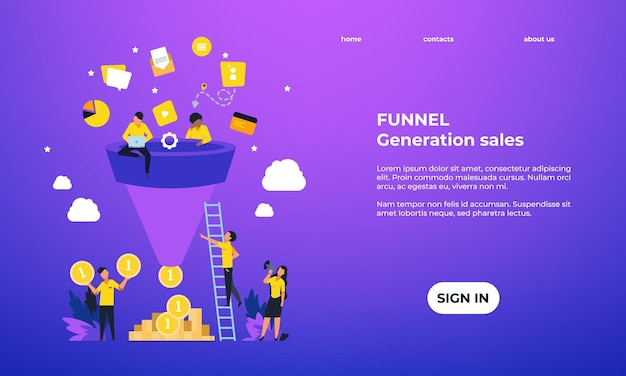Leads generation landing page