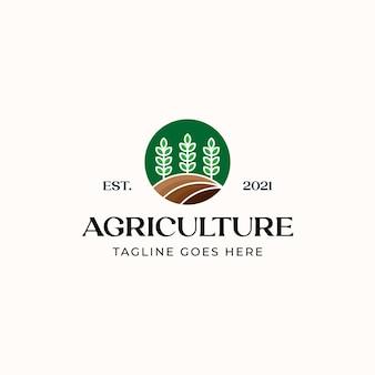 Шаблон логотипа листового сельского хозяйства