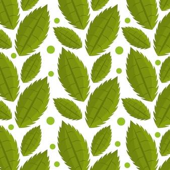 잎과 나뭇잎 생태 그래픽 완벽 한 패턴