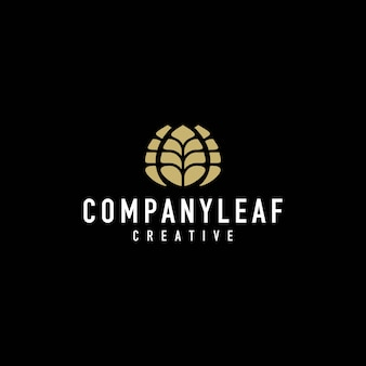 Leaf apartment luxury logo
