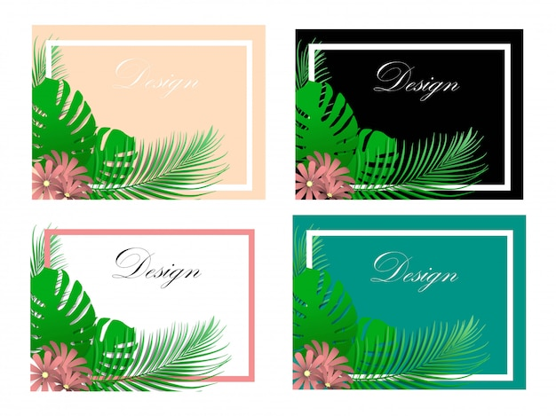Leaf background illustration for text input and design