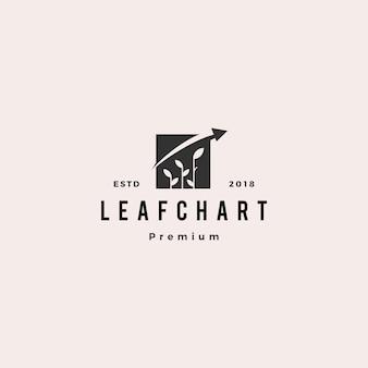 Leaf bar chart statistics logo vector icon logo
