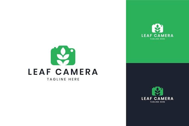 Leaf camera negative space logo design