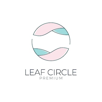 Leaf circle logo design. logos can be used for spa, beauty salon, decoration, boutique
