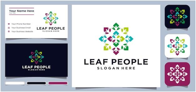リーフコンセプトコミュニケーションロゴ会話ロゴみんなのためのコミュニティワークビジネスビジネス