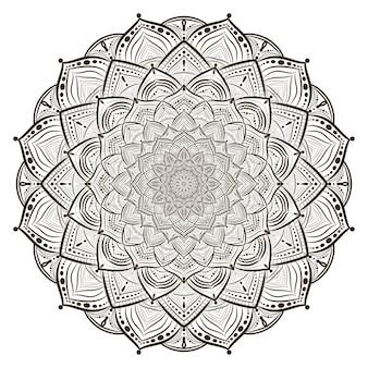 Leaf concept mandala line drawing
