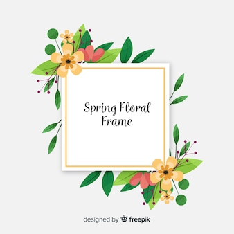 Leaf frame spring background