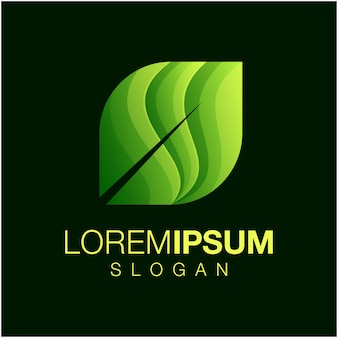 Leaf gradient color logo