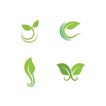 葉緑植物ロゴ新鮮なベクトルテンプレート