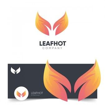 Leaf hot logo design