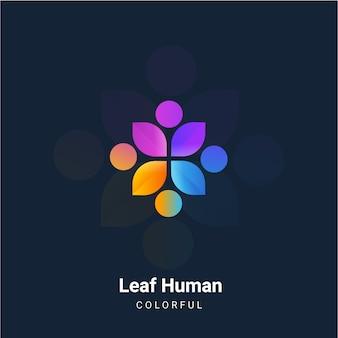 Leaf human logo full collor