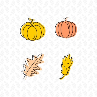 Leaf icon set design vector
