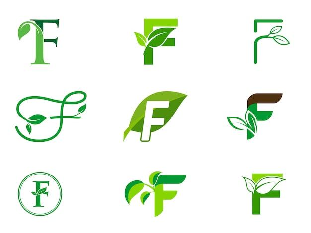 Набор инициалов логотипа f