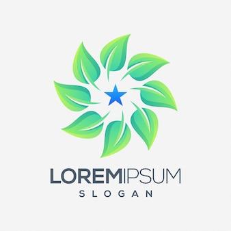 Leaf inspiration color logo design