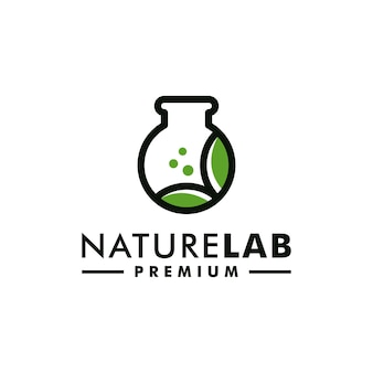 잎 실험실 자연 로고 과학 벡터 아이콘