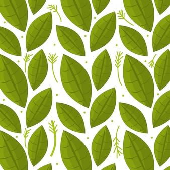 Leaf and leaves ecology graphic seamless pattern