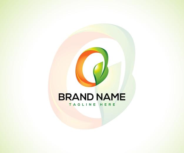 Логотип листа и буквица o логотип концепцию