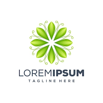 Leaf logo design illustration