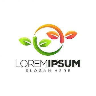 Лист дизайн логотипа иллюстрация