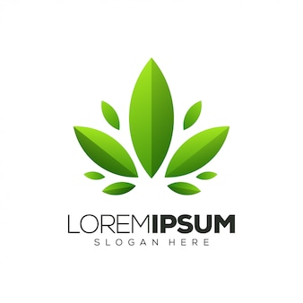Leaf logo design illustration