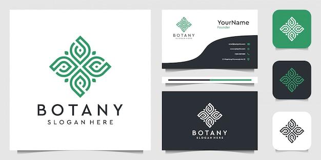 Дизайн логотипа leaf в стиле арт. костюм для спа, цветов, украшения, растений, зелени, ботаники, рекламы, бренда и визитной карточки