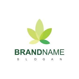 葉のロゴデザインテンプレート
