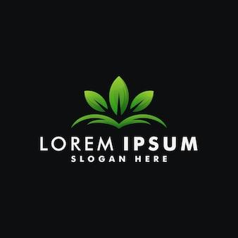 葉のロゴのデザインテンプレート