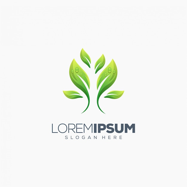 Leaf logo design vector illustration