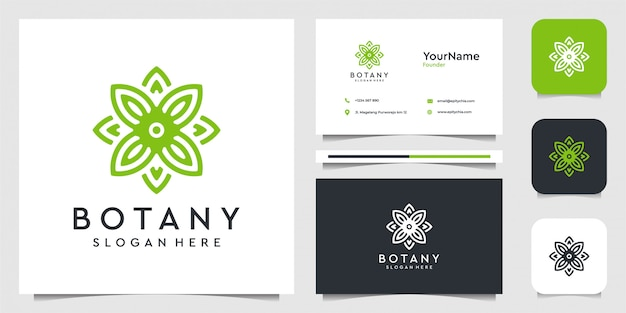 Leaf logo  illustration graphic  in line art style. suit for spa, flower, decoration, plants, green, botany, advertising, brand, and business card