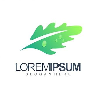 Leaf logo illustration