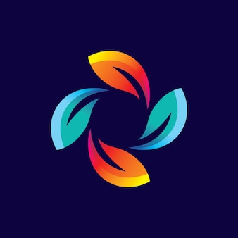 葉のロゴ画像イラストデザイン