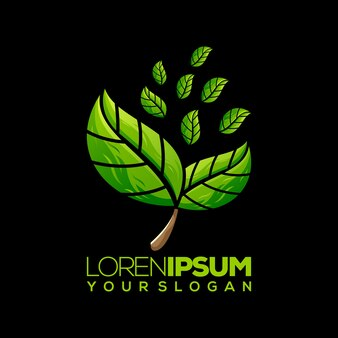 Leaf logo , template, illustration