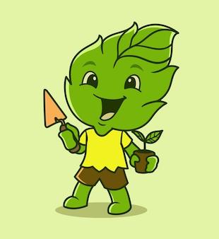 Leaf mascot