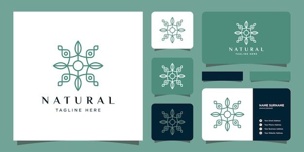 Leaf minimalist simple and elegant floral monogram template