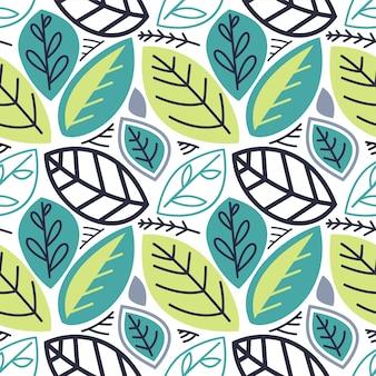 Leaf nature seamless pattern