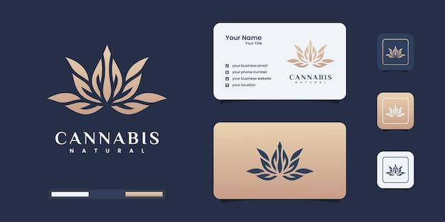 マリファナのロゴデザインのインスピレーションの葉。