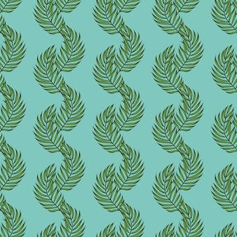 Leaf palms pattern. tropical seamless pattern with palm leaves. exotic leaves.