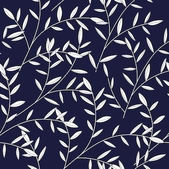 Leaf Pattern With Dark Background