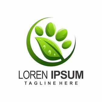 Leaf paw logo