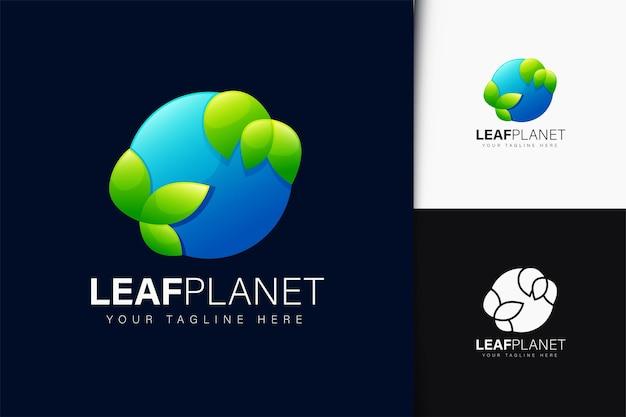 그라데이션으로 잎 행성 디자인
