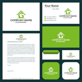 Leaf real estate and business card