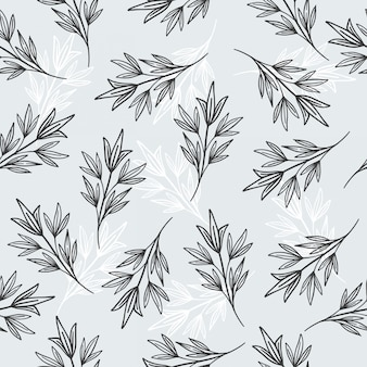Leaf seamless patterns and paper or wallpaper