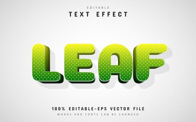 Лист текста, 3d синий текстовый эффект