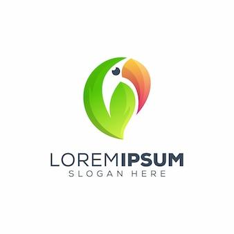 Логотип тукан лист