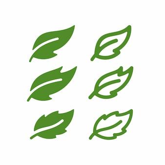 葉ベクトルデザイン要素