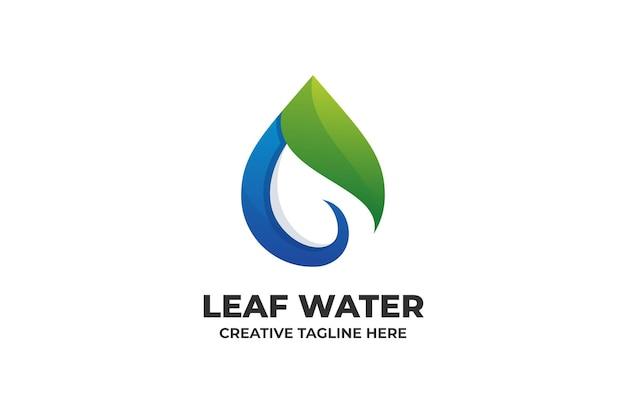 Leaf water nature gradient logo